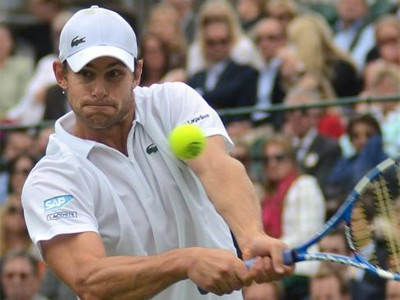 Andy Roddick in action