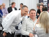 Michel Roux meeting guests