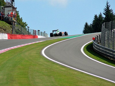 Witness all the drama at Spa's Eau Rouge corner