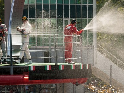 Sweeping views of the circuit and the podium at Monza