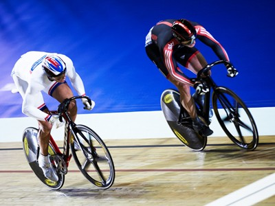 Experience the thrilling drama unfold inside the National Cycling Centre