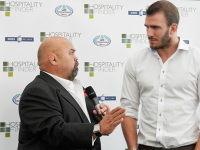 England international Tom Croft gives his insight to guests