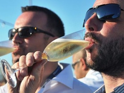 Sip champagne and enjoy the racing