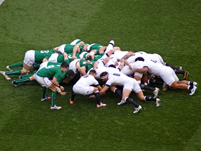 See Ireland lock horns with England