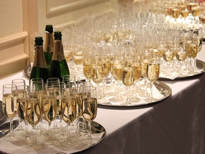 Enjoy a champagne reception