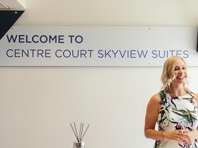 Hospitality in the Skyview Suites