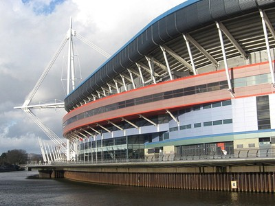 The iconic Millennium Stadium in the heart of Cardiff