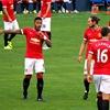 Debutant double fires Man Utd into first-leg lead