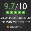 Review your experience to win VIP tickets!