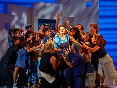 Experience Mamma Mia! at Novello Theatre