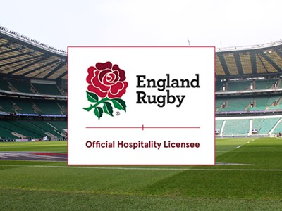 We've been awarded the official hospitality license at Twickenham