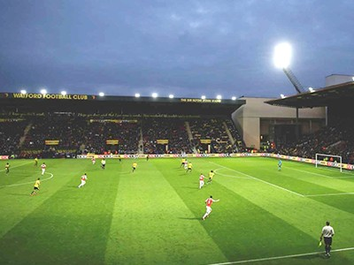 Witness Watford live at the Vicarage Road Stadium