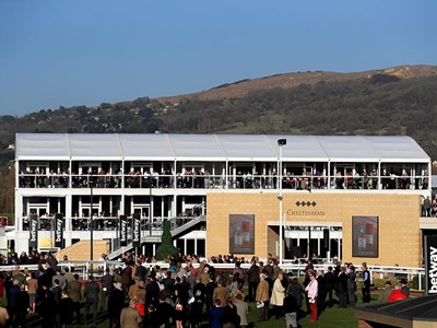 Experience the brand new Green Room from inside the parade ring viewing boxes
