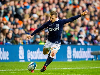 Scotland in action at Murrayfield against England