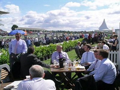 Adjoining terrace at the Winning Post Pavilions