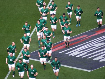 Ireland pre-match warm up