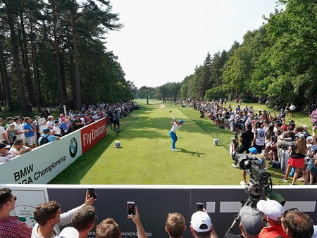 BMW PGA Hospitality Green on 18