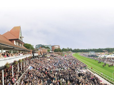 Panoramic overview of Chester racecourse