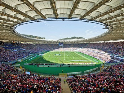 Electric atmosphere within the Stadio Olimpico
