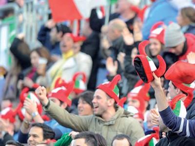 Legions of Italian fans in attendance
