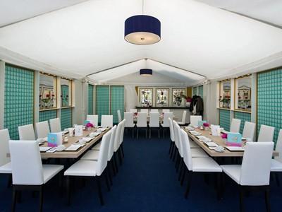 Plush hospitality suites